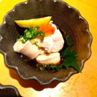 鮭の白子ポン酢