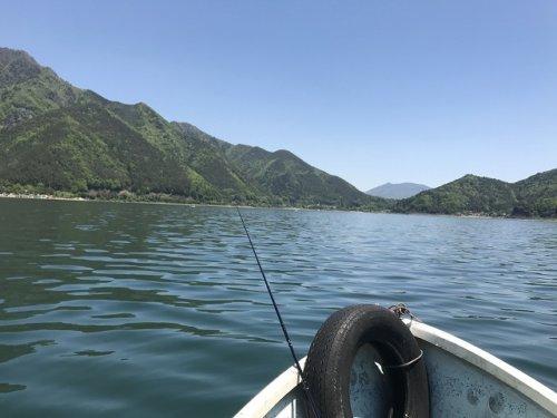 西湖でヒメマス釣り