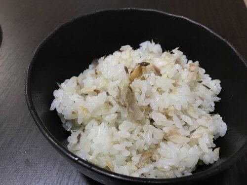 サバの一夜干しの炊き込みご飯