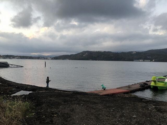 山中湖でバス&ワカサギ釣り