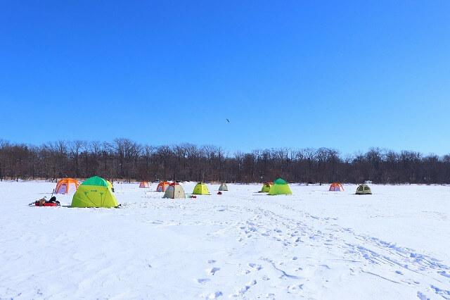 冬の網走湖