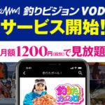 【釣りビジョンVOD】5,000本以上の釣り動画がおうちで見放題!